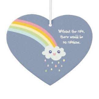 かわいい虹の感動的で、やる気を起こさせるな引用文 カーエアーフレッシュナー