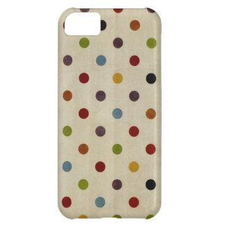 かわいい虹の水玉模様パターン iPhone5Cケース