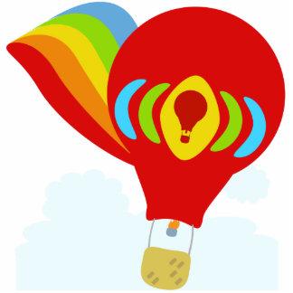 かわいい虹の熱気の気球の彫刻 フォトスカルプチャー