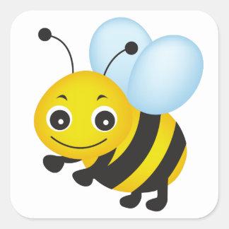 かわいい蜂のデザイン スクエアシール