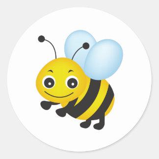 かわいい蜂のデザイン ラウンドシール