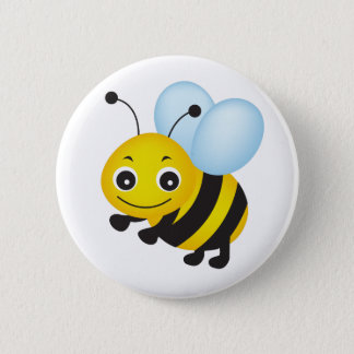 かわいい蜂のデザイン 5.7CM 丸型バッジ