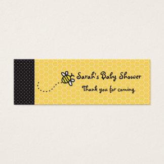 かわいい蜂を感謝していしています付けます名刺にブンブンいう音 スキニー名刺