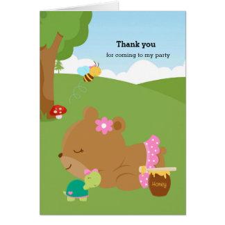 かわいい蜂蜜くま カード