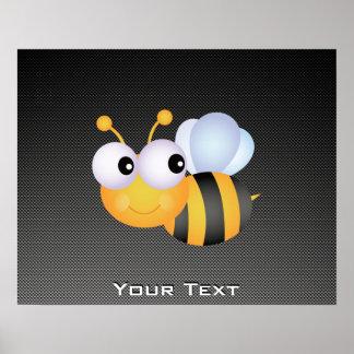 かわいい蜂; お洒落 ポスター