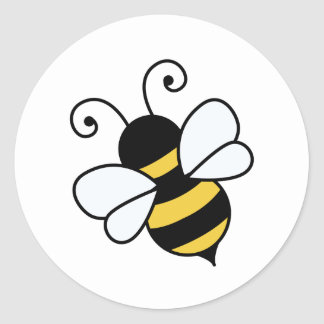 かわいい蜂 ラウンドシール
