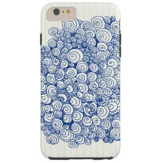 かわいい螺線形の落書きのデザイン TOUGH iPhone 6 PLUS ケース