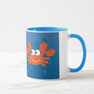 かわいい蟹座によっては(占星術の)十二宮図の印のカスタムが斜め飛行します マグカップ