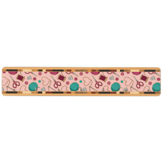 かわいい裁縫テーマパターンピンク キーラック
