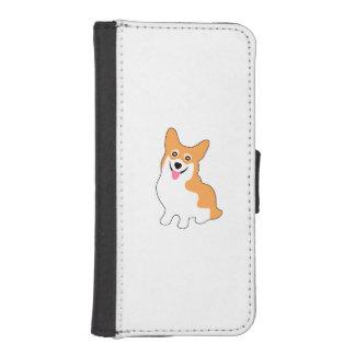 かわいい西のペンブロークのコーギーの子犬 iPhoneSE/5/5sウォレットケース