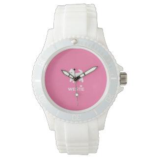 かわいい西の高地テリア- I愛Westies 腕時計