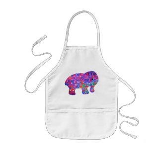 かわいい象のエプロンをからかいます 子供用エプロン