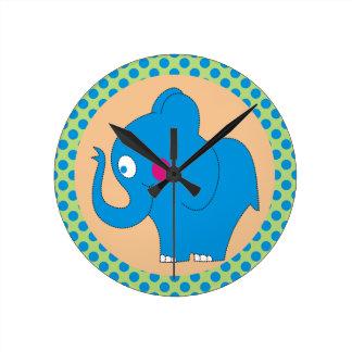 かわいい象の水玉模様の子供の時計 時計