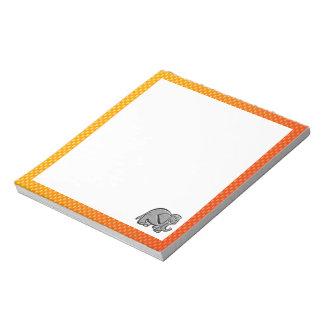 かわいい象; 黄橙色 ノートパッド