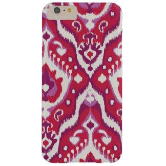 かわいい赤いおよび紫色のイカット種族パターン BARELY THERE iPhone 6 PLUS ケース