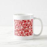 かわいい赤いハートの背景 コーヒーマグカップ