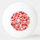 かわいい赤いハートの背景 ピンポンボール