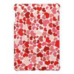 かわいい赤いハートの背景 iPad MINI CASE