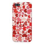 かわいい赤いハートの背景 iPhone 5 COVER