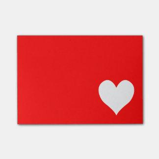 かわいい赤と白のハートの形 ポストイット
