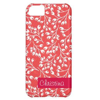 かわいい赤と白の秋の果実 iPhone5Cケース