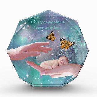 かわいい赤ん坊のお祝い 表彰盾