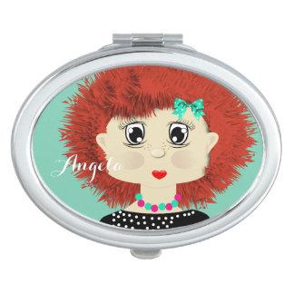 かわいい赤毛の漫画の女の子