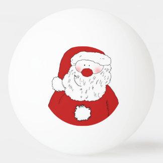 かわいい赤面のサンタ 卓球ボール