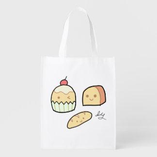 かわいい軽食-バッグ エコバッグ