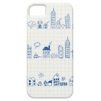 かわいい都市景観パターン iPhone SE/5/5s ケース