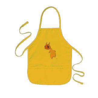 かわいい金魚のおもしろいなマンガのキャラクタのかわいいのエプロン 子供用エプロン