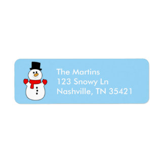 かわいい雪だるまの宛名ラベル ラベル