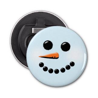 かわいい雪だるまの顔の冬休みの雪だるまのクリスマス 栓抜き