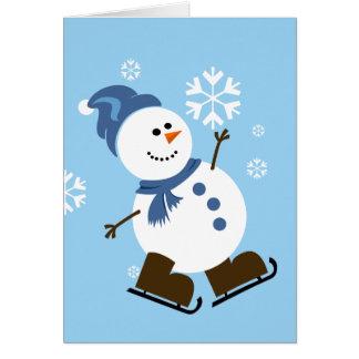 かわいい雪だるまカード カード