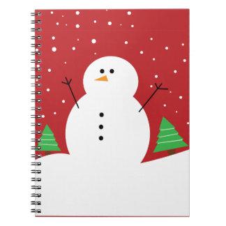 かわいい雪だるま ノートブック