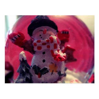 かわいい雪だるま ポストカード