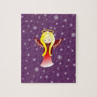 かわいい雪の天使のジグソーパズル ジグソーパズル