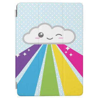かわいい雲および虹のiPadの空気箱 iPad Air カバー