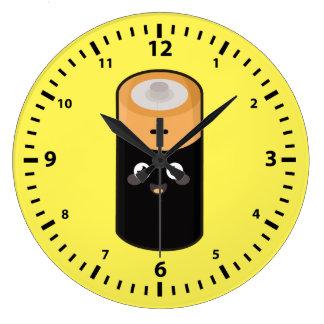 かわいい電池 ラージ壁時計