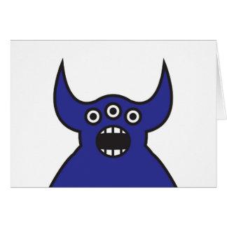 かわいい青い外国モンスターの顔 カード