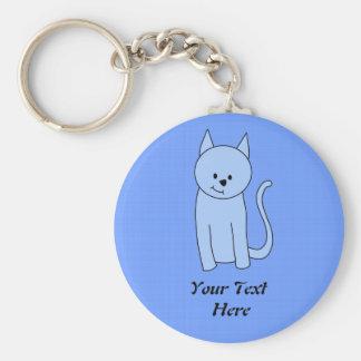 かわいい青猫の漫画 キーホルダー