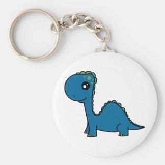 かわいい青色児の恐竜 キーホルダー