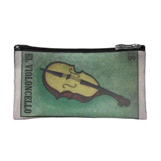 かわいい音楽テーマのジッパー コスメティックバッグ