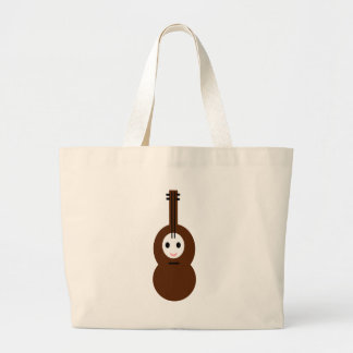 かわいい音楽弦楽器 ラージトートバッグ