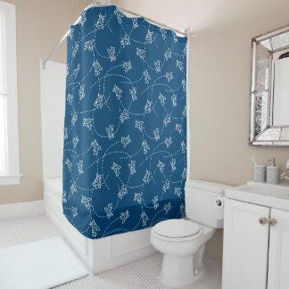 かわいい飛行機 シャワーカーテン