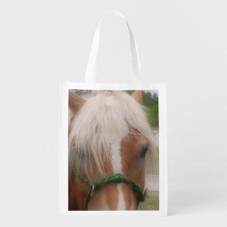 かわいい馬の顔動物 エコバッグ