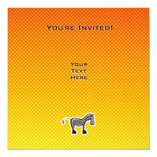 かわいい馬; 黄橙色 カード