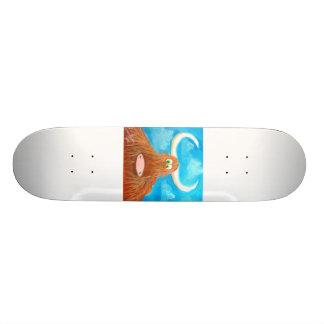 かわいい高地牛 スケートボード