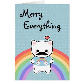 かわいい髭猫の休日 カード