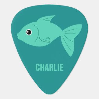 かわいい魚のカスタムなギターの一突き ギターピック